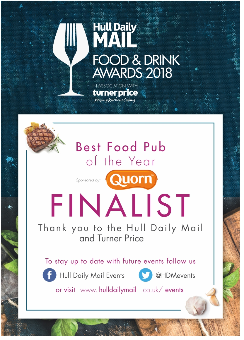 Best food pub of the year A4 FINALIST
